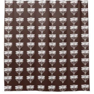Mahagonikünste und Handwerks-Libellen Duschvorhang