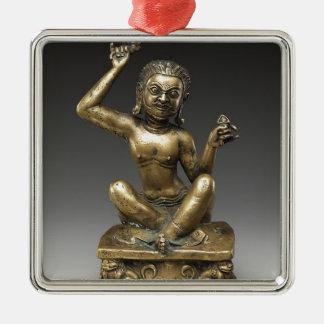 Mahasiddha, der Blumen-König Quadratisches Silberfarbenes Ornament