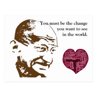 Mahatma Gandhi Postkarte