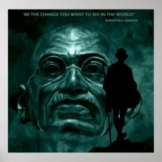 Mahatma Gandhi - Quote Poster