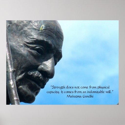 Mahatma Gandhi - Stärkenzitat Plakatdruck