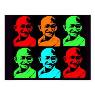 Mahatma- Gandhicollage Postkarte