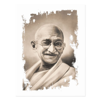 Mahatma- Gandhigeschenk Postkarte