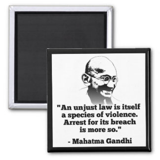 Mahatma- Gandhimagnet Quadratischer Magnet