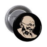 Mahatma- Gandhiporträt-Knopf Button