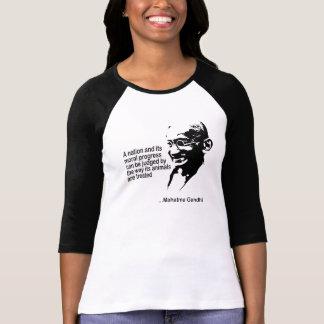 Mahatma Gandhitierrecht-Damen T-Shirt
