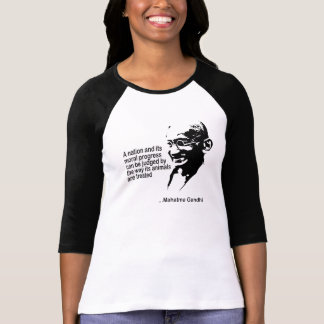 Mahatma Gandhitierrecht-Damen T-Shirts