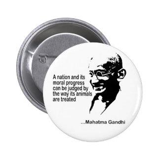 Mahatma Gandhitierrechte Anstecknadel