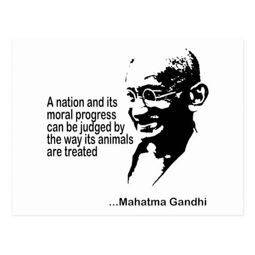 Mahatma Gandhitierrechte Postkarte