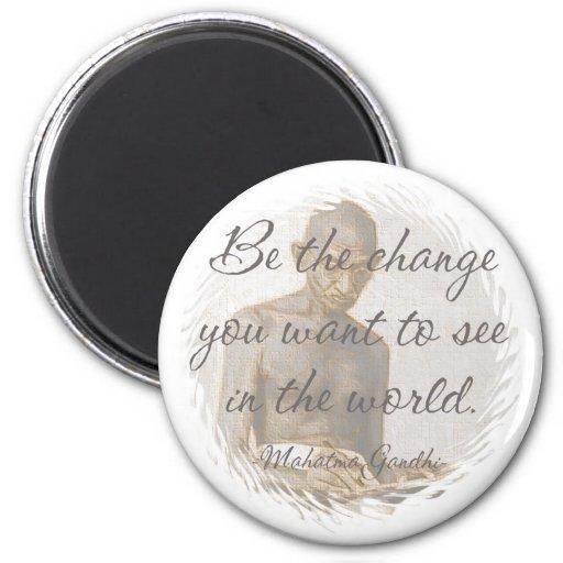 Mahatma- Gandhizitat-Kühlschrank-Magnet Magnete