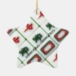 Mahjong Drachen Weihnachtsbaum Ornament