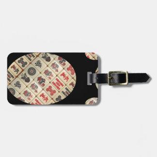 Mahjong Fliesen Gepäckanhänger
