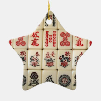 Mahjong Fliesen Keramik Stern-Ornament