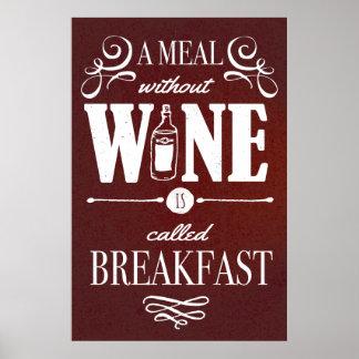 Mahlzeit ohne Wein Poster