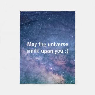Mai das Universumlächeln nach Ihnen Fleecedecke