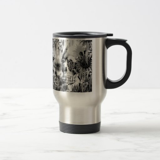 Mai-Duschen, die Blumenschädel im Grau schmelzen Kaffee Tassen