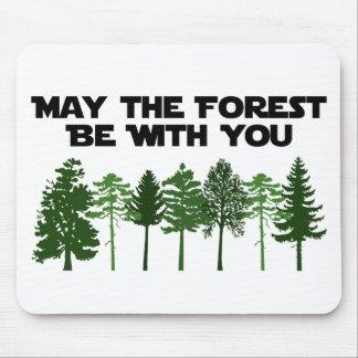 Mai ist der Wald mit Ihnen Mauspad