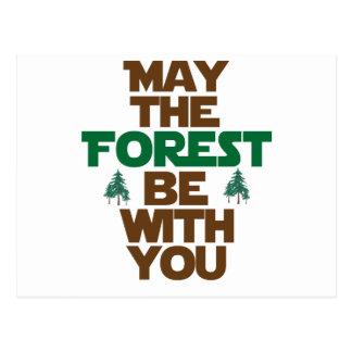 Mai ist der Wald mit Ihnen Postkarte