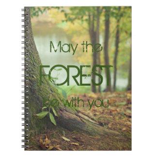 Mai ist der Wald mit Ihnen Spiral Notizblock