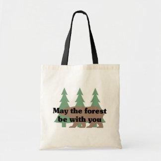 Mai ist der Wald mit Ihnen Taschen-Tasche Budget Stoffbeutel