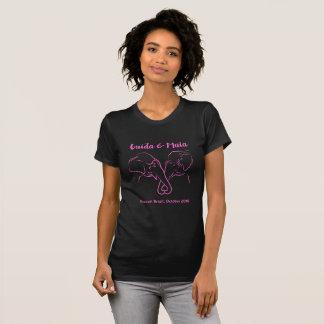 Maia und Guida schwarzes u. rosa Girlie T-Stück T-Shirt