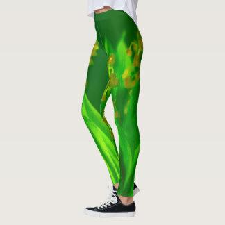 Maiglöckchen beim Glühen grün Leggings