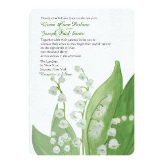 Maiglöckchen-Hochzeits-Einladung 12,7 X 17,8 Cm Einladungskarte