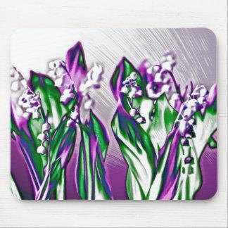 Maiglöckchen im Lavendel Mousepad