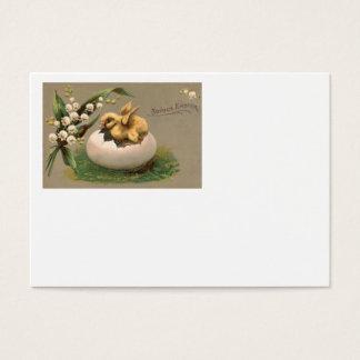 Maiglöckchen-Ostern-Küken-Ei Visitenkarte