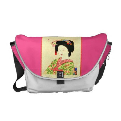 Maiko, japanische Geisha-Rickshaw-Bote-Tasche Kurier Tasche