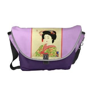 Maiko, japanische Geisha-Rickshaw-Bote-Tasche Kuriertasche