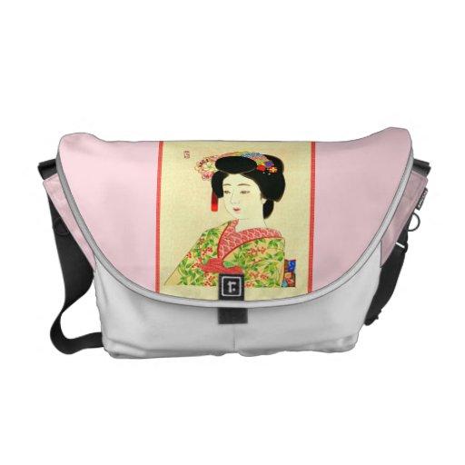 Maiko, japanische Geisha-Rickshaw-Bote-Tasche Kurier Taschen