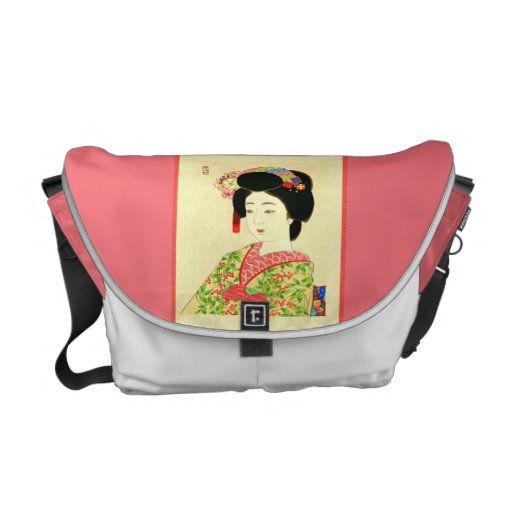Maiko, japanische Geisha-Rickshaw-Bote-Tasche Kuriertaschen