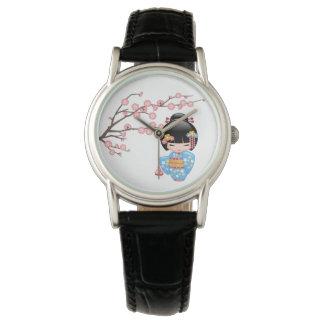 Maiko Kokeshi Puppe - niedliches japanisches Armbanduhr