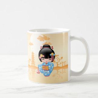 Maiko Kokeshi Puppe - niedliches japanisches Kaffeetasse