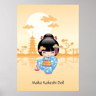 Maiko Kokeshi Puppe - niedliches japanisches Poster
