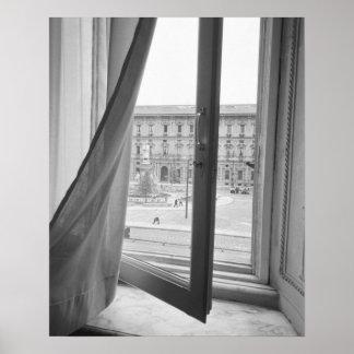 Mailand Italien, Ansicht vom La Scala-Opern-Fenste Poster