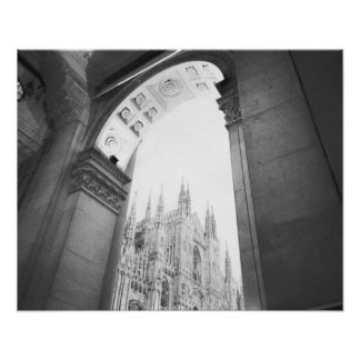 Mailand Italien, Galleria-Ansicht des Duomo Poster