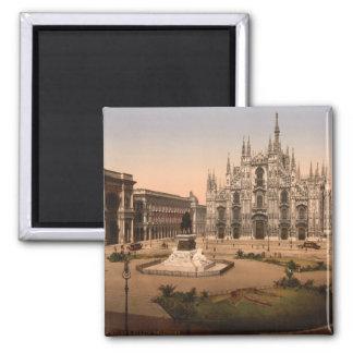 Mailand-Kathedrale und Marktplatz, Lombardei, Quadratischer Magnet