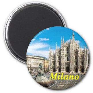 Mailand-Kühlschrankmagnet Runder Magnet 5,1 Cm