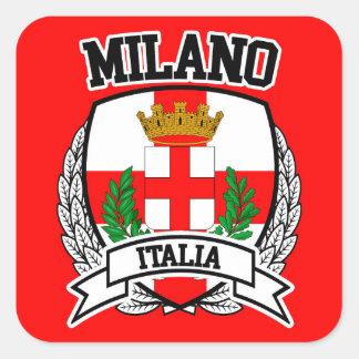 Mailand Quadratischer Aufkleber