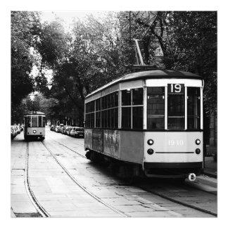 Mailand-Tram-Druck Fotodruck