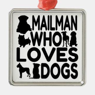 Mailman, den Lieben verfolgt Silbernes Ornament