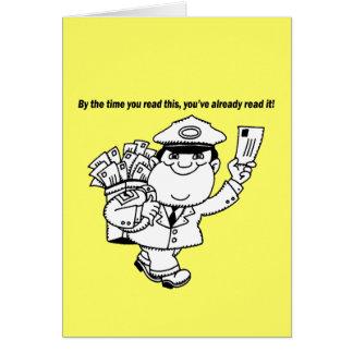Mailman-Spaß - bis Sie dieses… lasen Karte