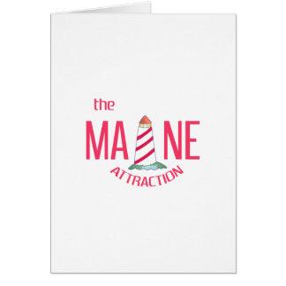 Maine-Anziehungskraft Karte