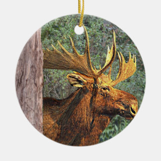 Maine-Elche Keramik Ornament