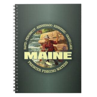 Maine-Fliegen-Fischen Spiral Notizblock