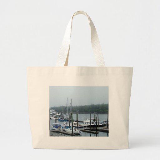 Maine-Hafen Leinentaschen
