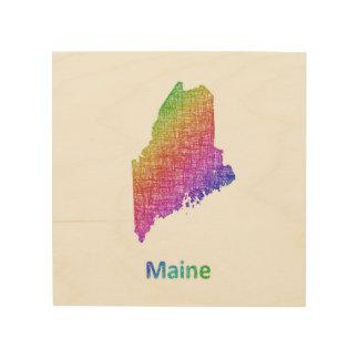 Maine Holzleinwand