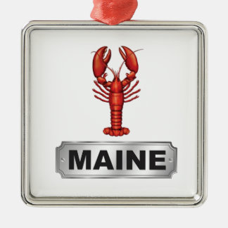 Maine-Hummer Silbernes Ornament